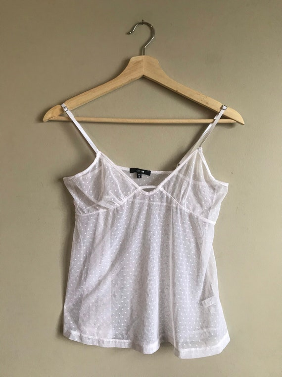 Vintage Lace Sheer Camisole Top - image 2