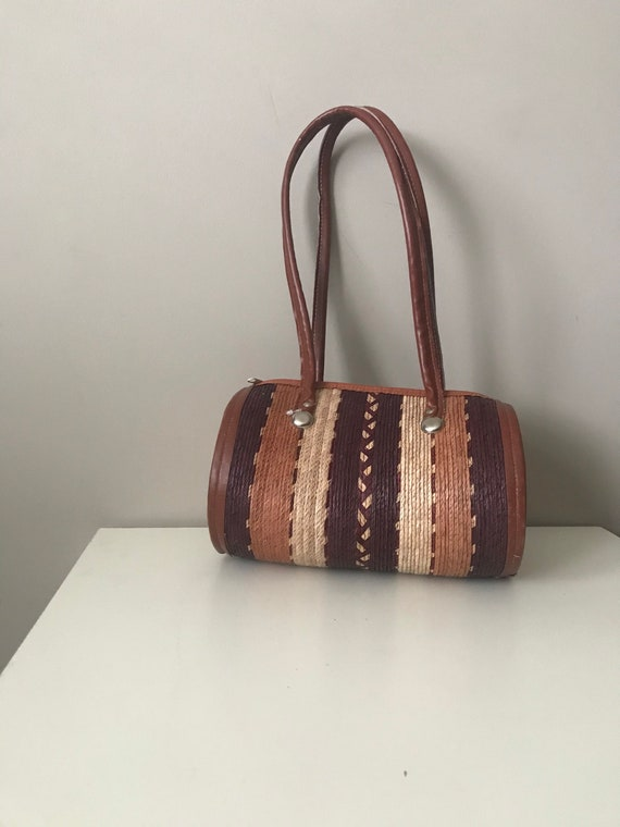 Vintage Straw Shoulder Bag