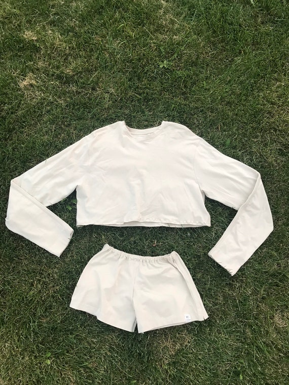Vintage Reworked Knit Shorts and Cropped Sweater