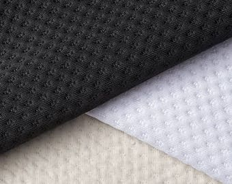 Ready-AbZORB™ Zorb® 3D Organic Cotton Dimple Super Absorbent Silver Antimicrobial Fabric with SILVADUR™ (Made in USA, sold by the yard)