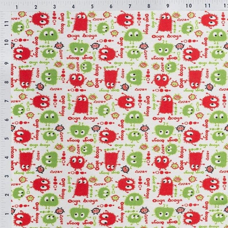 sold by the yard Ooga Booga Holidays ProSoft\u00ae Waterproof 1 mil PUL Print
