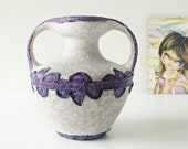 Purple and Pink Mid Century Amphora Vase by Marei, West German Pottery