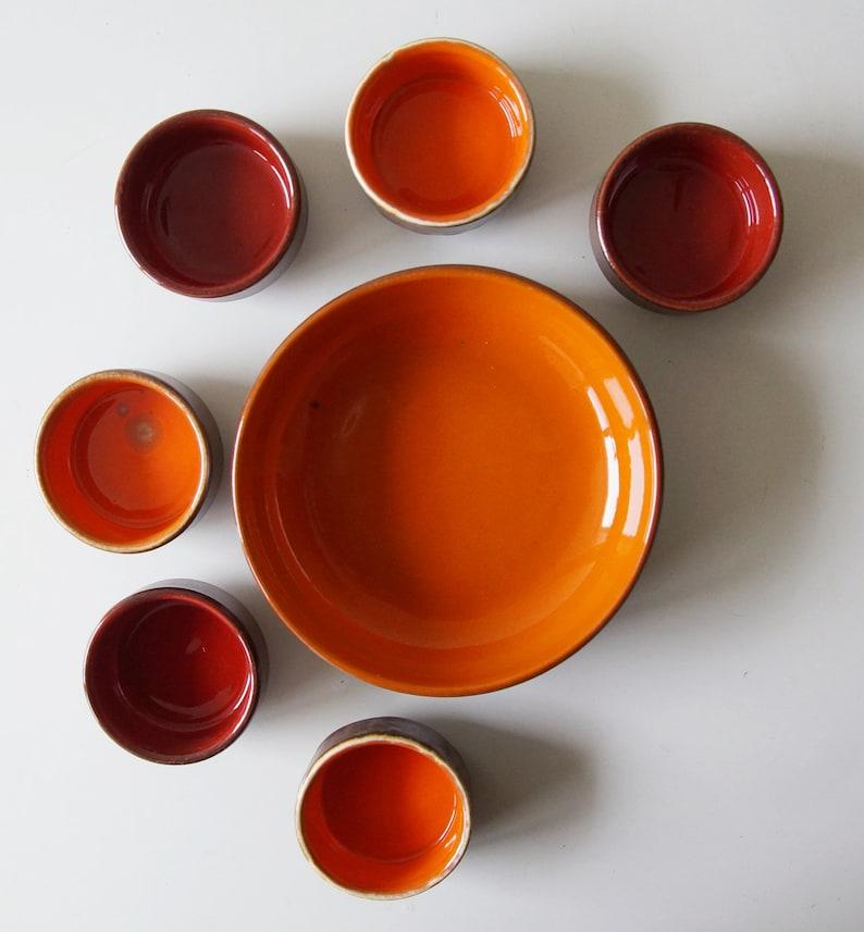 orangebronze Holland by Jan van Erp Mid Century bowl set