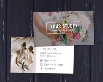 Photography Business Card Template   Wedding Photography Business Card Template   Photoshop Template   Photography Marketing