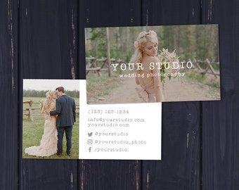 Wedding Photography Business Card, Business Card Template, Photography Business Card, Photoshop Business Card, Rustic Business Card Design