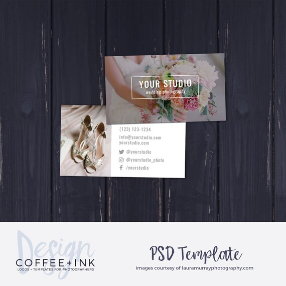 Photography business card template wedding photography etsy image 0 flashek Image collections