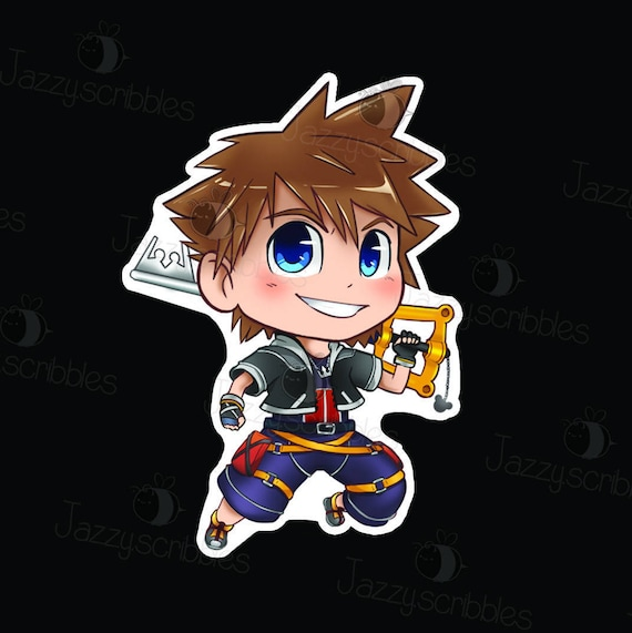 Chibi Sora Sticker Kingdom Hearts Ii Etsy