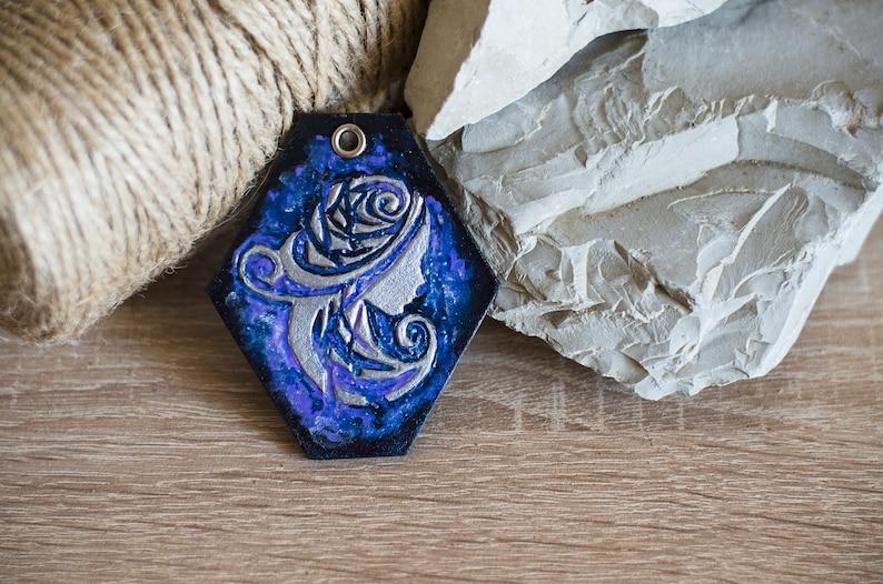 Virgo Sign Necklace Pendant Keychain Cosmic Pendant Backpack Symbol Amulet Bag Hanger Car Accessories Ornament Cosmic Guard