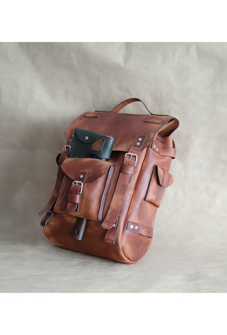 14afe489024e9 Vintage Leder Rucksack Rucksack City Rucksack