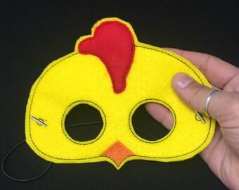 Chicken Mask Kids Pretend Dress Up Costume Felt