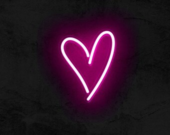 neon heart etsy