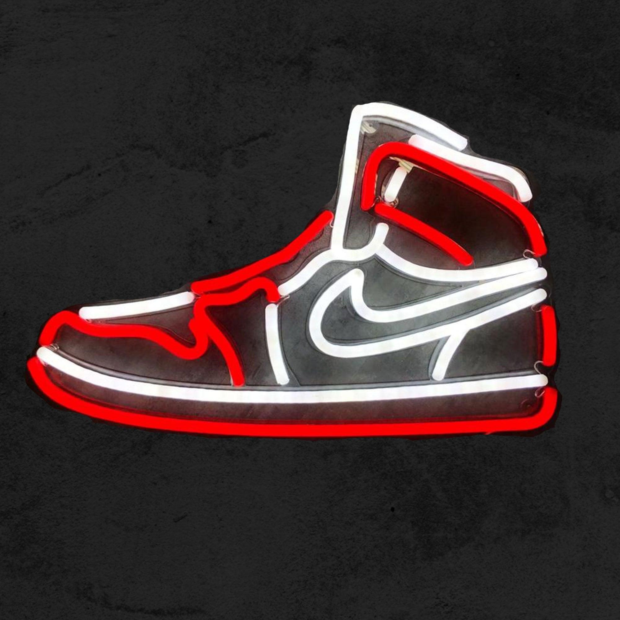 Air Jordan | LED Neon Sign, Michael Jordan Art, Air Jordan, Nike Air, Jordan, Neon Shoe, Shoes Sign, Shoe Decor, Sneakerhead