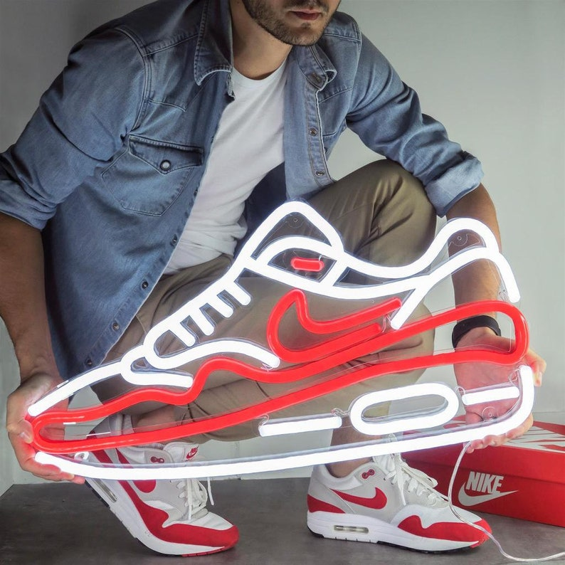 uk availability 86c62 8be43 Air Max, Nike Air Max, Nike Air, Nike Air Max Shoes, Custom Neon, Neon Art,  Noen Shoes, Neon Shoe, Shoe Repair, Shoe Store, Neon Red Shoe