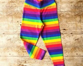 3fa3cc512 Rainbow kids leggings