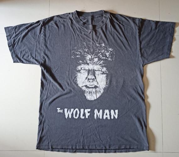 THE WOLF MAN 90's vintage black t-shirt 1941 ameri