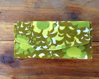 Wallet, Women's Wallet, Clutch, Purse, Upcycled Wallet, Boho, Eco Friendly, Retro, Sustainable, Gift for Her, Boho Chic, Upcycled,