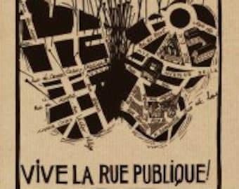 Poster Vive la rue public