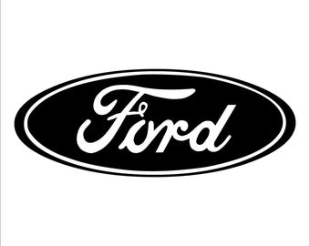 Laptops Ford Logo vinyl decal For Cars Mirrors etc.