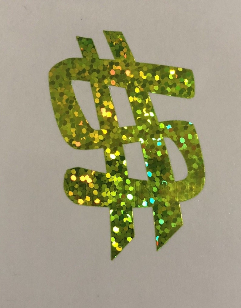 One Dollar Bank Note Money Car Bumper Sticker Decal /'/'SIZES/'/'