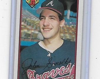0ccfd302cc John Smoltz 1989 Bowman Baseball Rookie Card #266 Atlanta Braves