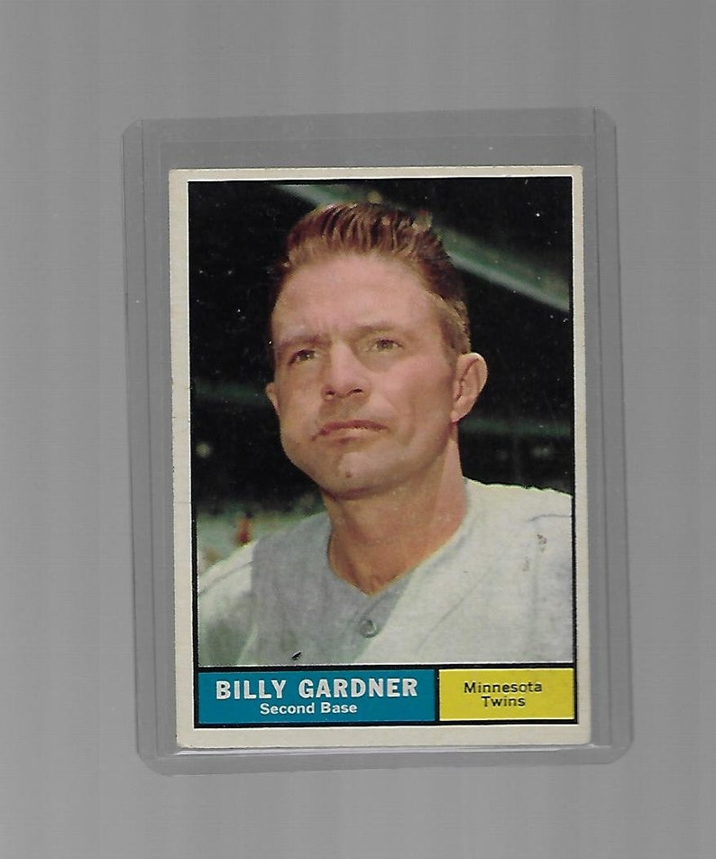 Billy Gardner 1961 Topps Card #123 Minnisota Twins Vintage Baseball Card