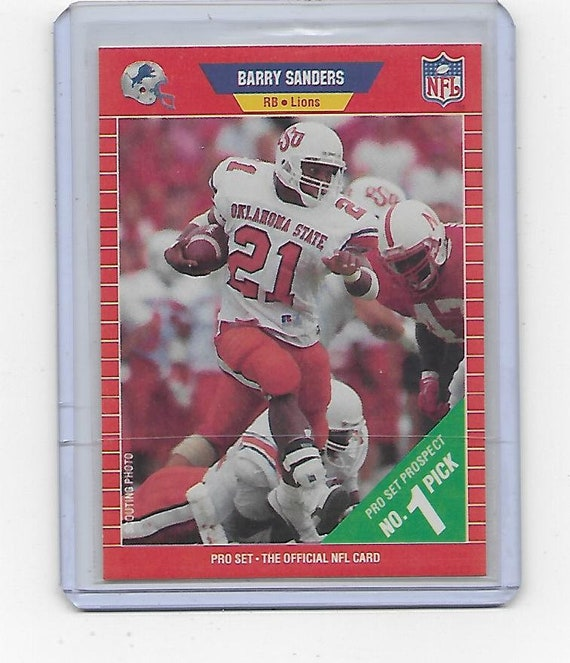 Barry Sanders Detroit Lions 1989 Pro Set Football Rookie Card