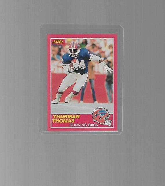 Thurman Thomas Buffalo Bills 1989 Score Football Rookie Card 211 Hall Of Famer Nrmt Mint Condtion