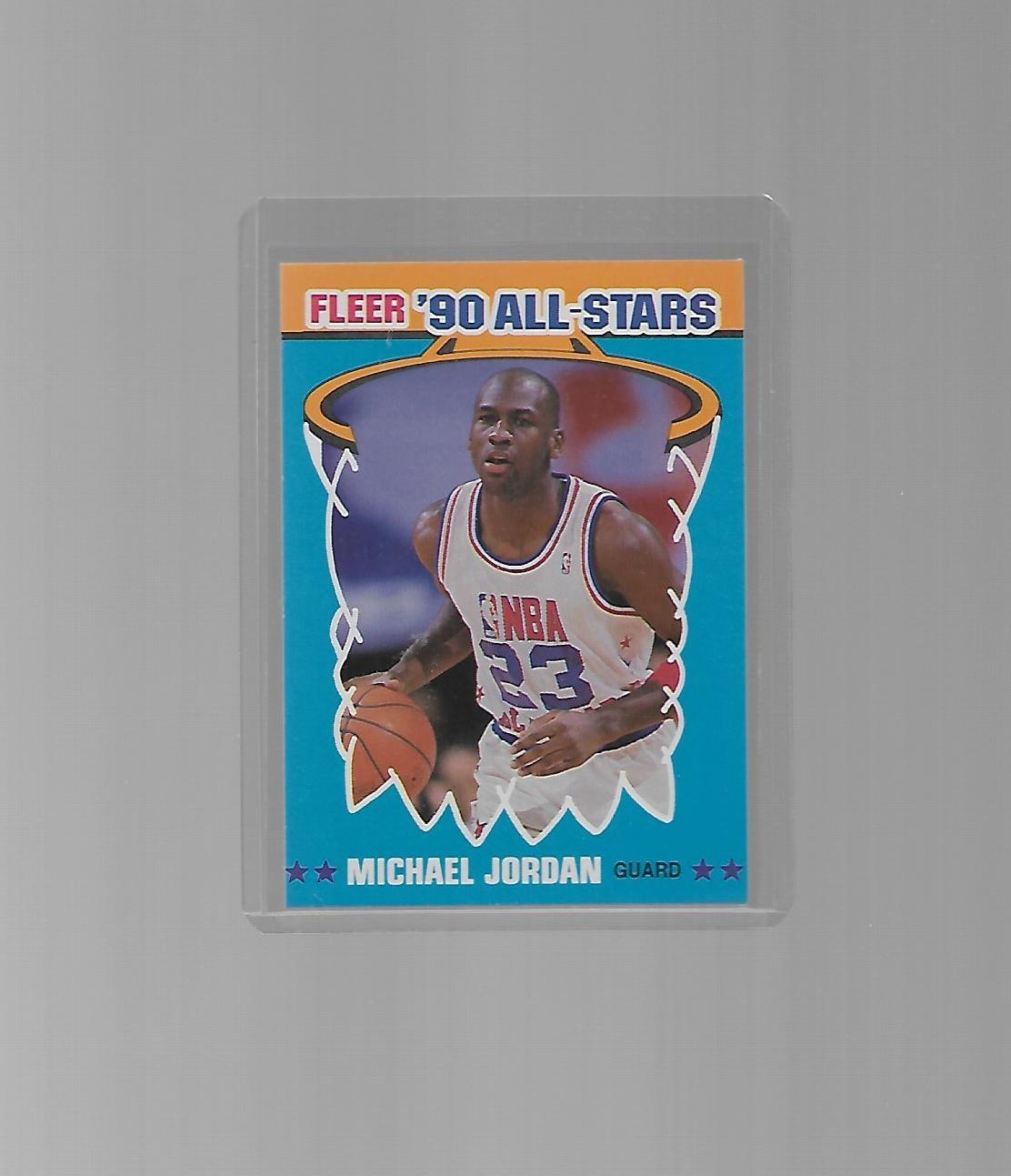 711ded95700 Michael Jordan Chicago Bulls 1990-91 Fleer All Stars Insert