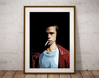 Fight Club, Tyler Durden illustraiton Poster