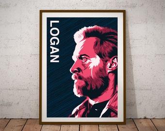 Logan illustration Print