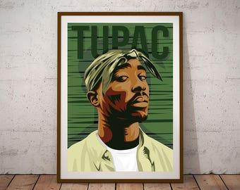 Tupac Shakur illustration Poster