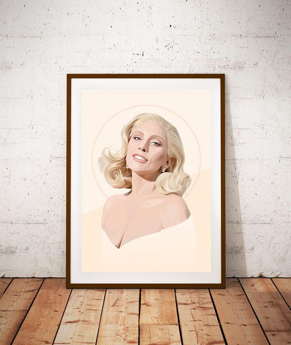 A5 A4 A3 A2 Sizes Lady Gaga Joanne American Singer Poster