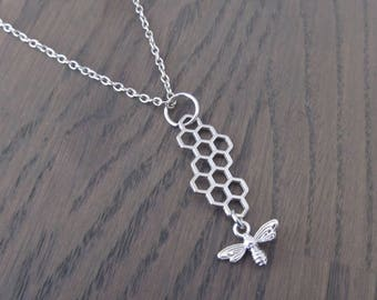 Necklace at, necklace bee, honey bee