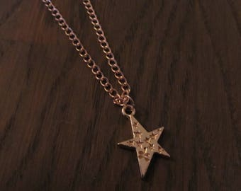 Necklace Star Rosé Gold
