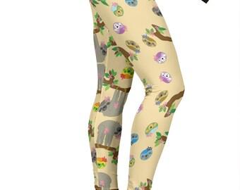 d3ebbd9a351dd1 Sloth leggings | Etsy