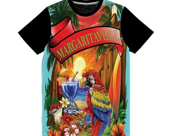 fd3b065c Margaritaville Baby Blue Design Classic Sublimation Panel T-Shirt