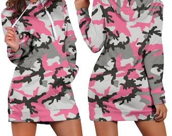 2391d2de3b0 Pink Camo Women s Hoodie Dress