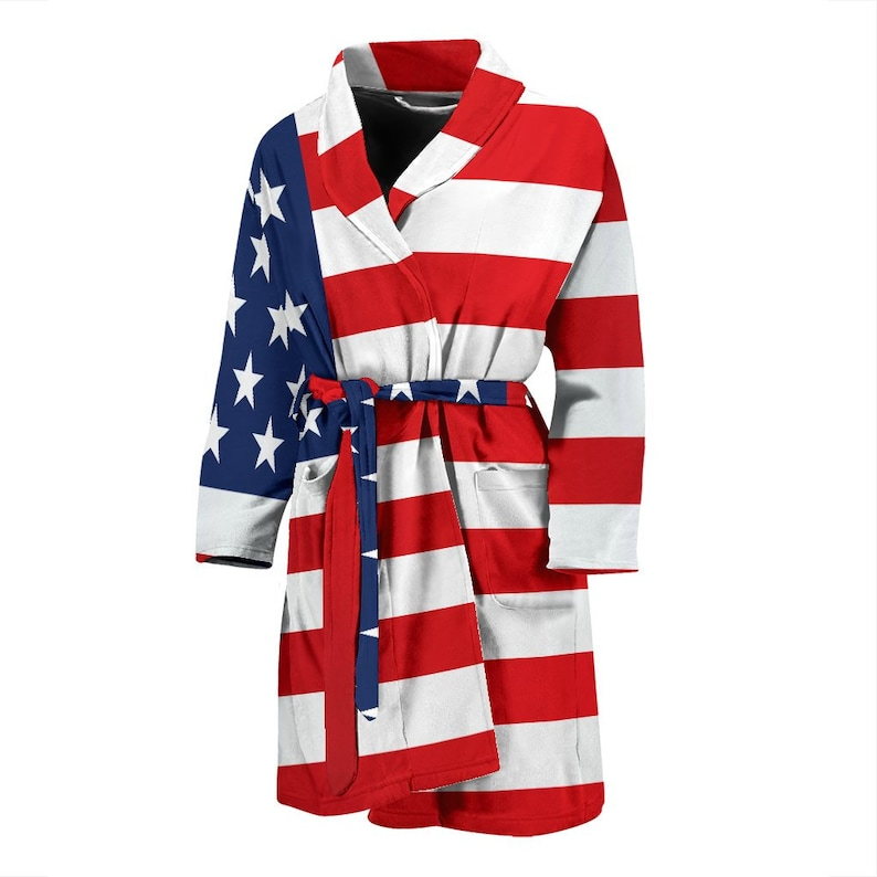 c037fdd9878 American Flag Men s or Women s Bath Robe