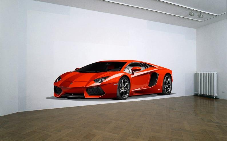 Lamborghini Wall Decal Removeable Repositionable