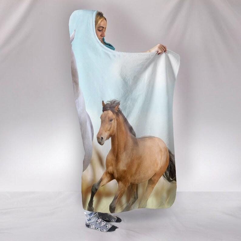 Desert Horse Hooded Blanket