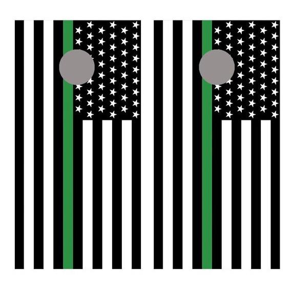 Thin Green Line Support Border Patrol American USA Flag Mens Hooded Sweatshirt Theme Printed Fashion Hoodie