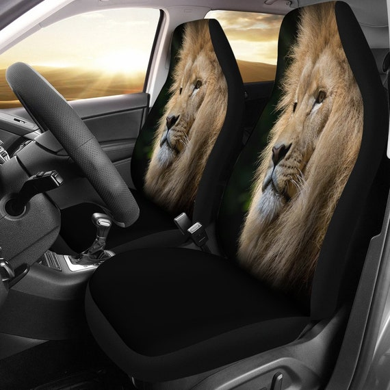 Lion King Of The Jungle Stare Designed Car Seat Covers