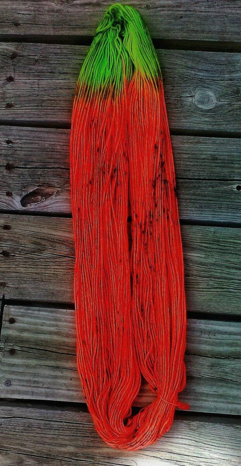 DK yarn The Psychodelic Sheep Hand dyed yarn Far Out Base Indie dyed yarn Watermelon Colorway PREORDER