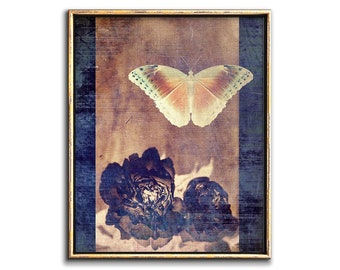 Butterfly Wall Art Downloadable Prints Master Bedroom Wall Decor, Butterfly Printable Fine Art Collage Art Bedroom Decor, 8x10 to 24x30