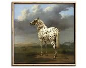 Vintage Horse Painting Downloadable Prints, Digital Equestrian Print Printable Wall Art, Horse Portrait Oil Painting Poster Download