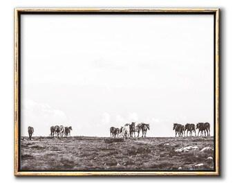 Horse Wall Art, Horses Print, Downloadable Prints, Western Prints, Horizontal Wall Art, Sepia Wall Art, Horse Art, Western Art Print, Decor
