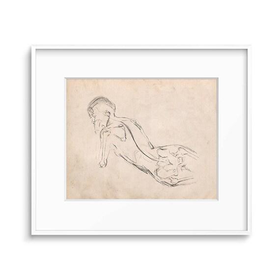 Anatomy Art Figure Drawing Female Figure Study Anatomy | Etsy