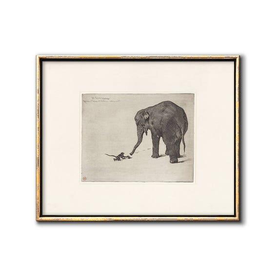 Vintage Elephant Art Print