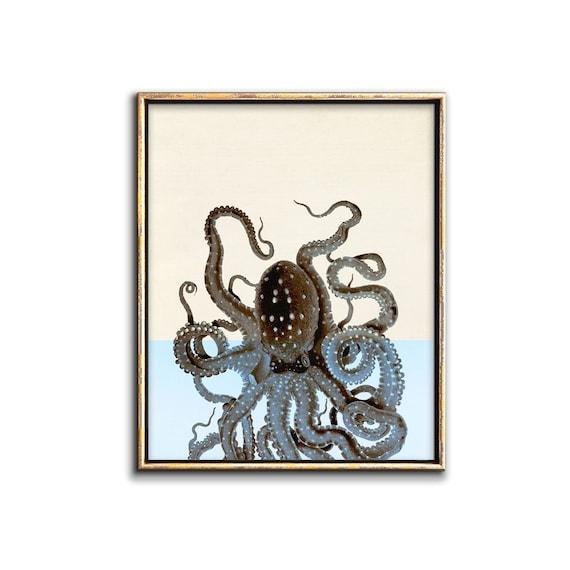 Octopus Wall Art Downloadable Prints Bathroom Wall Decor Octopus Art Digital Download Print Under The Sea Kids Room Decor