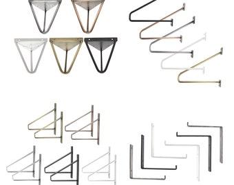 2xShelf holder | different models | many colors | Shelf rack, wall shelf, shelf support, shelf angle, Shelf Holder - Natural Goods Berlin